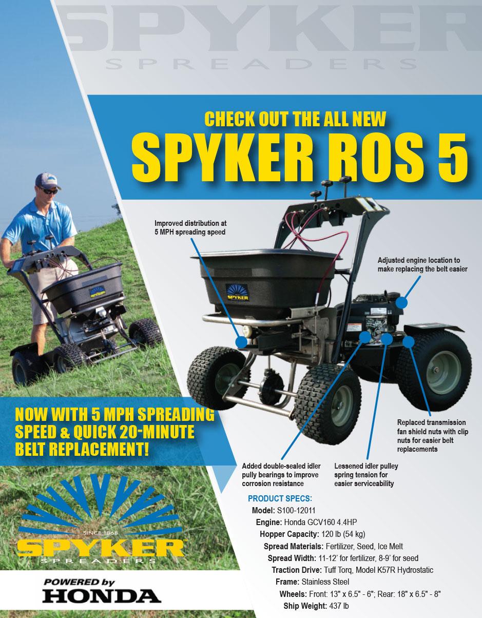 spyker ride on spreader